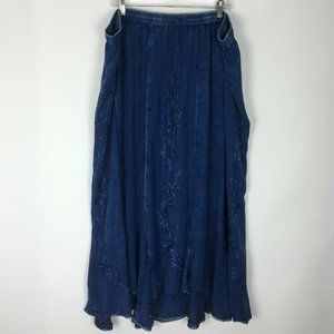 Added Dimensions Catherines 3X Blue Chambray Skirt